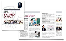 Free Brochure Template For Word Inspiration High School  Brochure Template  Brochures Educación  Pinterest .