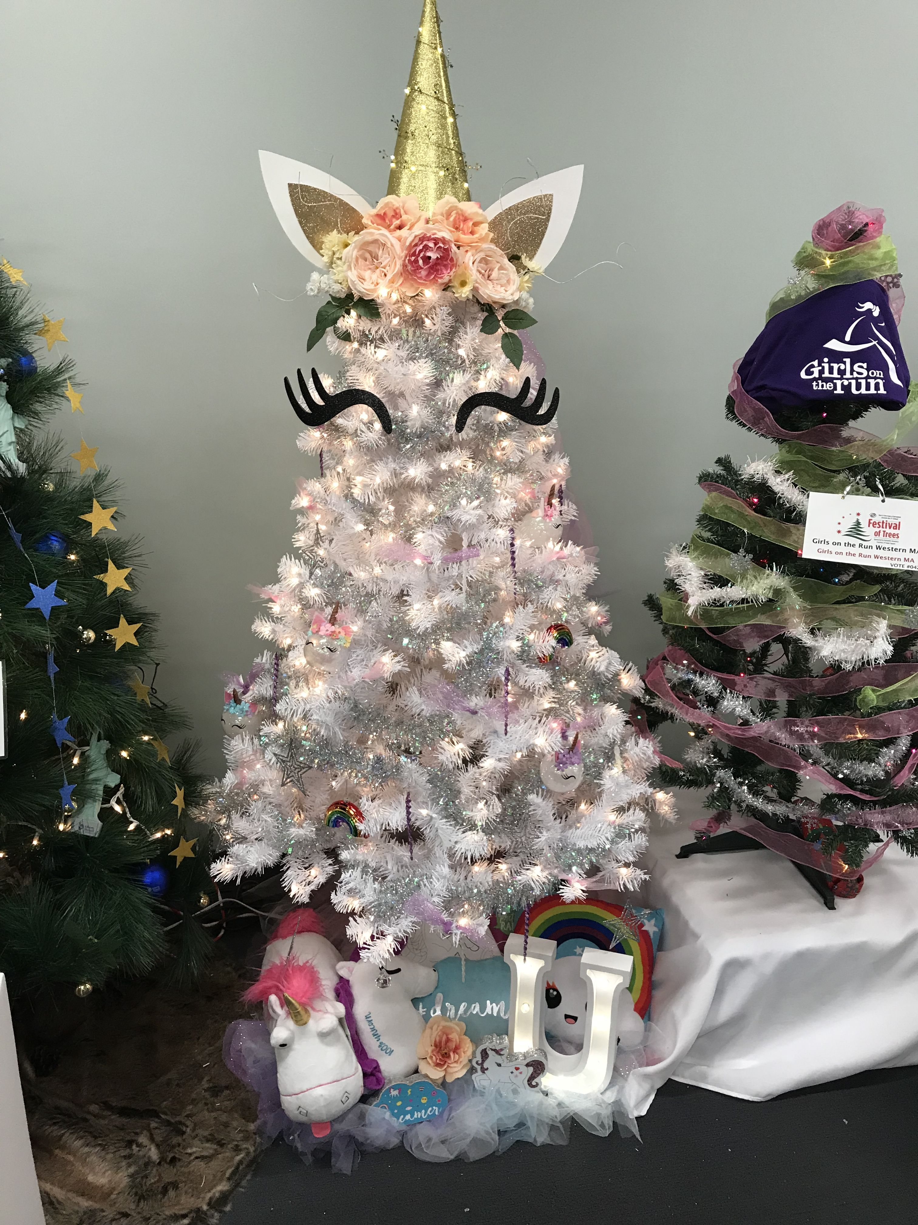 Unicorn Christmas Tree Unitree Who Do You Know That Would Love This Sparkly Magical Tree Christmas Unicorn Christmas Tree Themes Christmas Trees For Kids