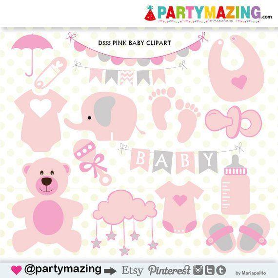 0577bd4e62ec Baby Girl Clipart Set