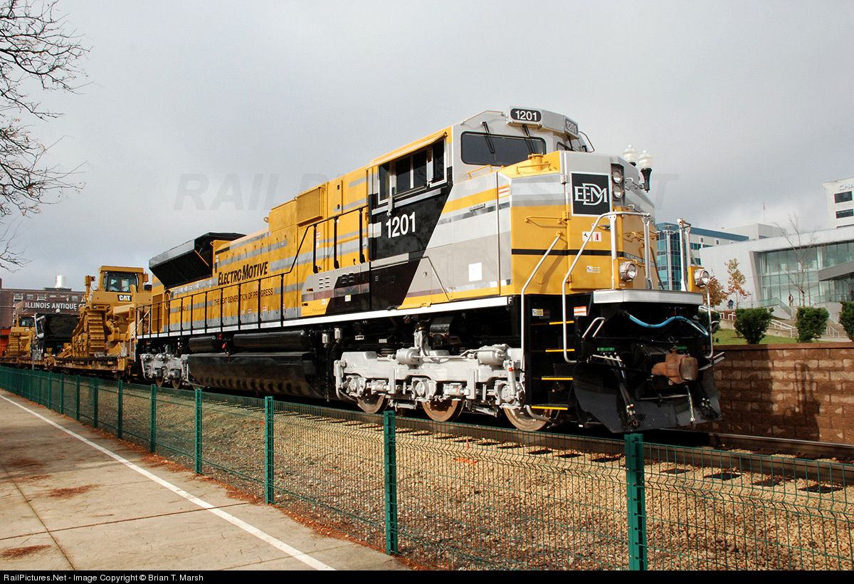 RailPictures.Net Photo: EMDX 1201 EMDX EMD SD70ACe at Peoria, Illinois by Brian T. Marsh