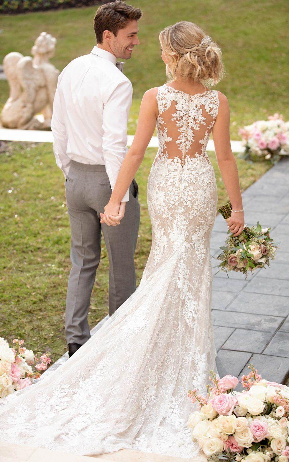 Vintage Wedding Dress With Unique Lace Details Stella York Wedding Dresses In 2020 Ivory Wedding Dress Mermaid Wedding Dresses Bridal Dresses Lace