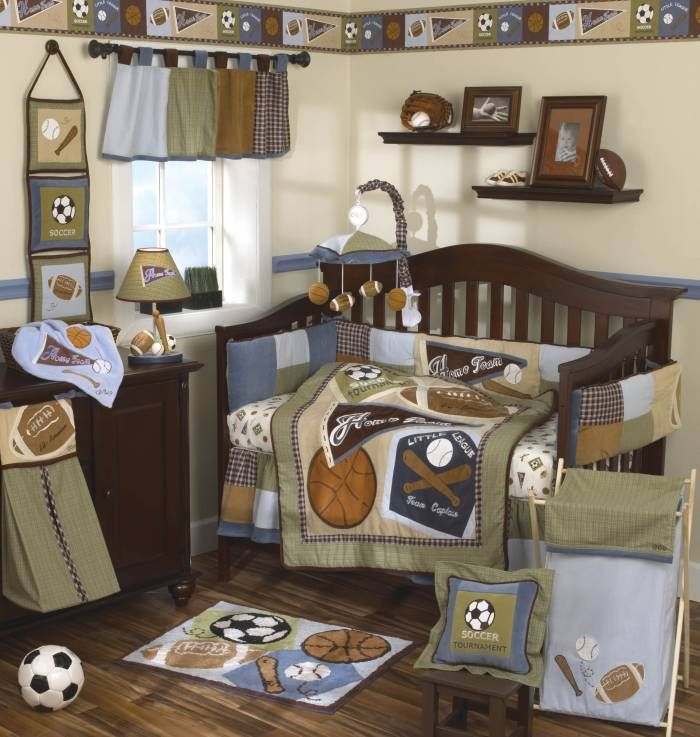 Sports Theme Nursery Crib Sets For Boys Baby Crib Bedding Baby