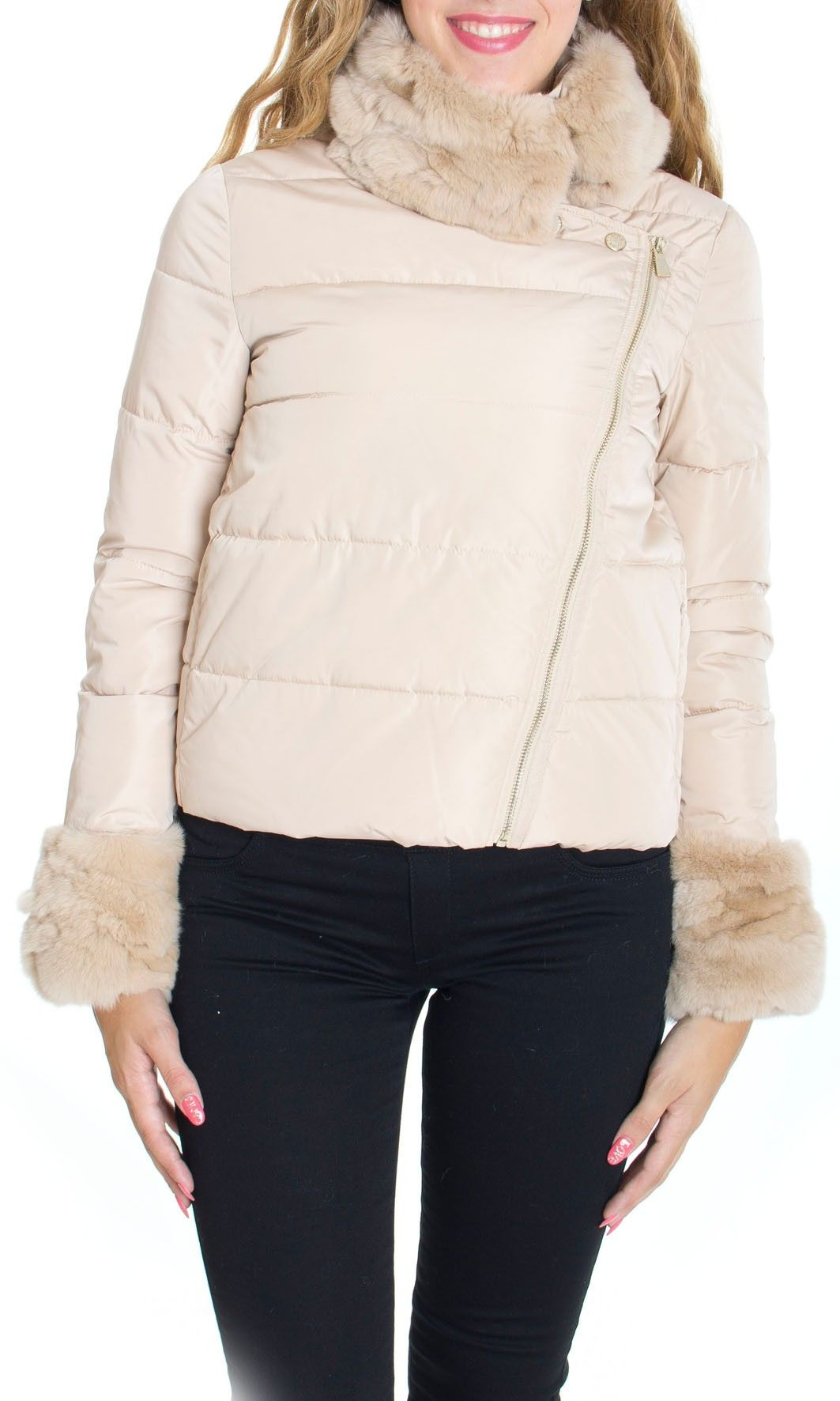 giacca invernale beige donna