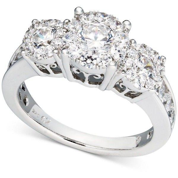 Prestige Unity Diamond Ring 14k White Gold Engagement 2 5 117 Liked On Polyvore