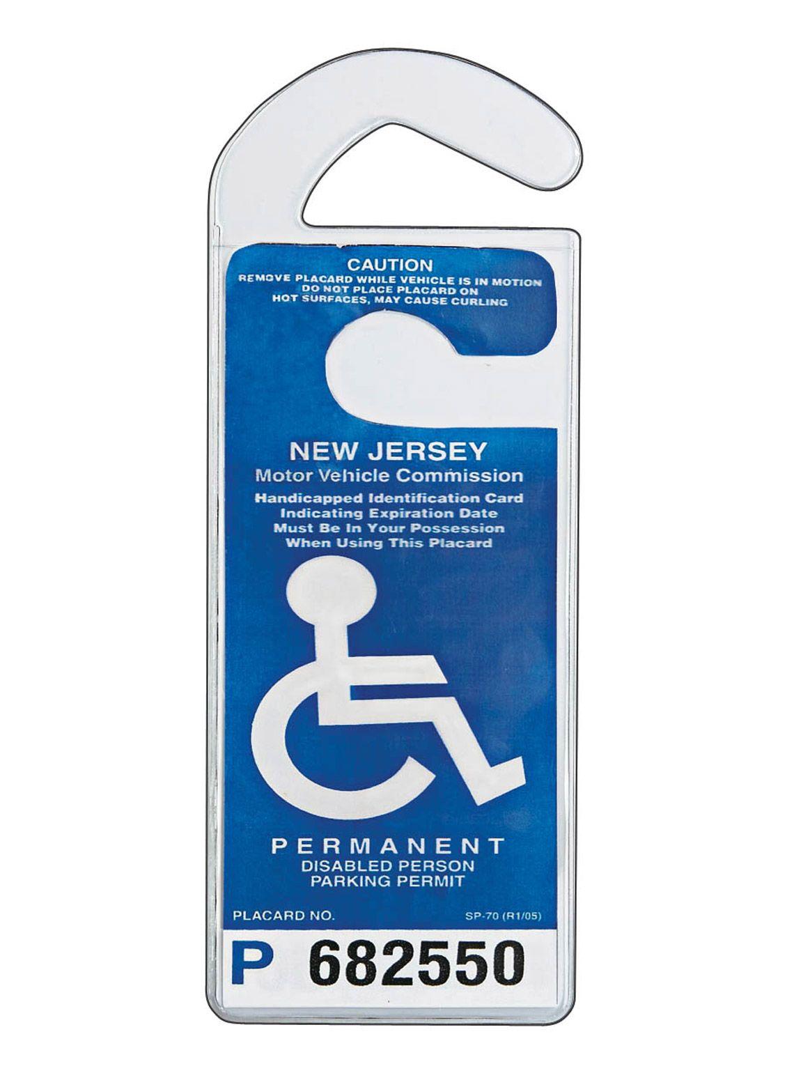Handicap Placard Holder Clear Rectangular Parking Permit Holder Handicap Placards Mirror Set