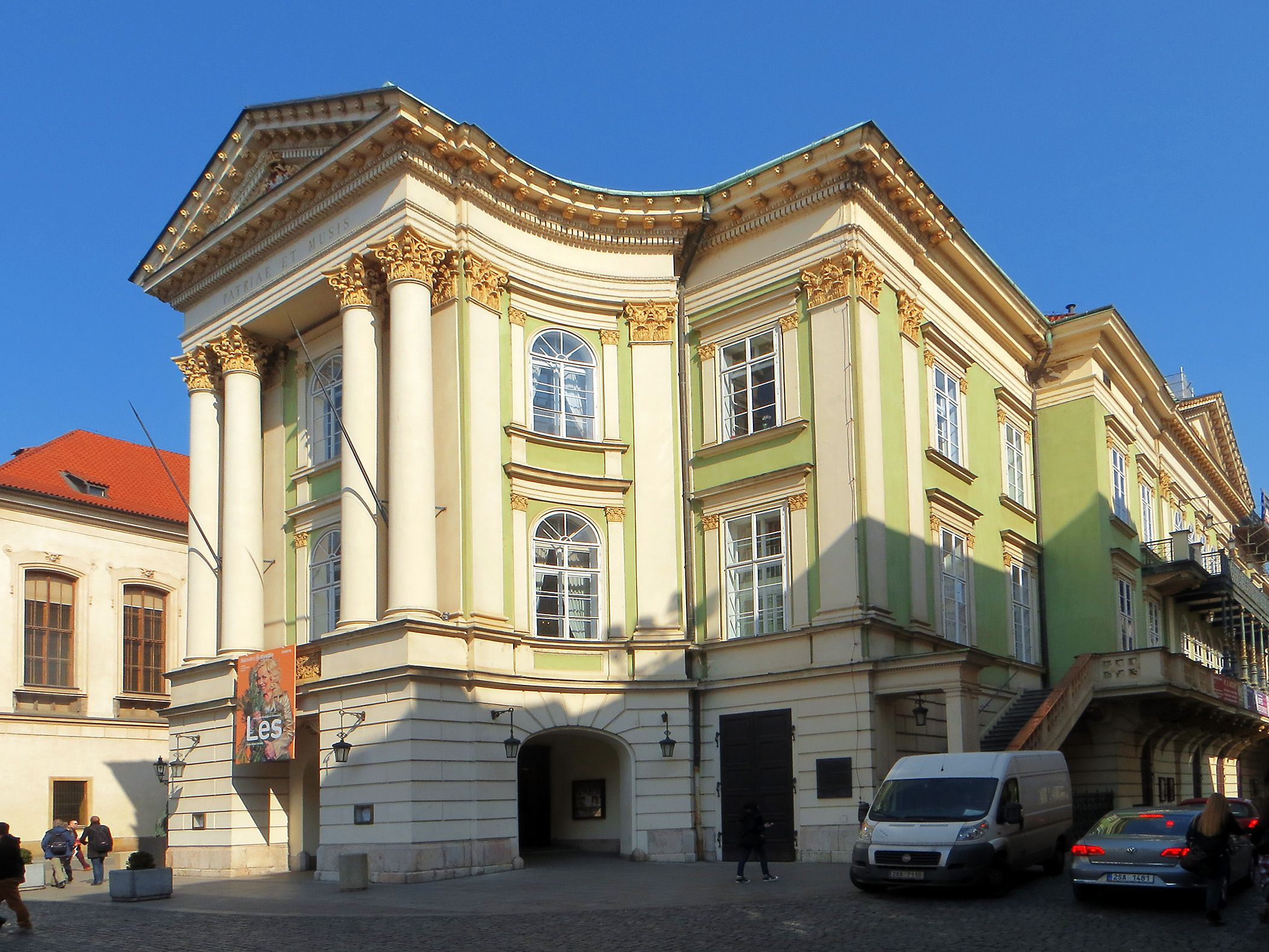 The Estates Theatre is a historic theatre in Prague, Czech Republic