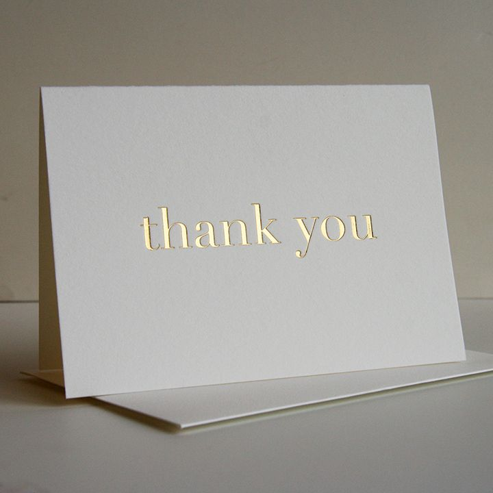 Thank You For Being A Part Of Our Special Day Real Foil Wedding Card Wedding Thank You Card Foiled Card Foil Card Thank You Card