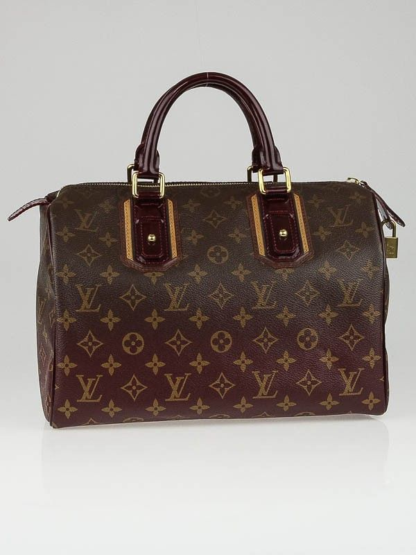 Louis Vuitton Limited Edition Bordeaux Monogram Mirage Speedy 30