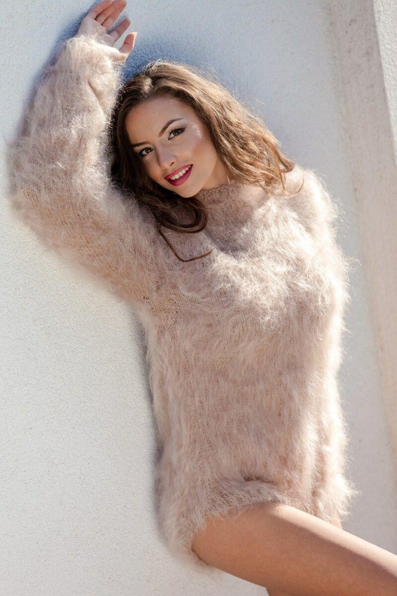 Fuzzy mohair sweater photos