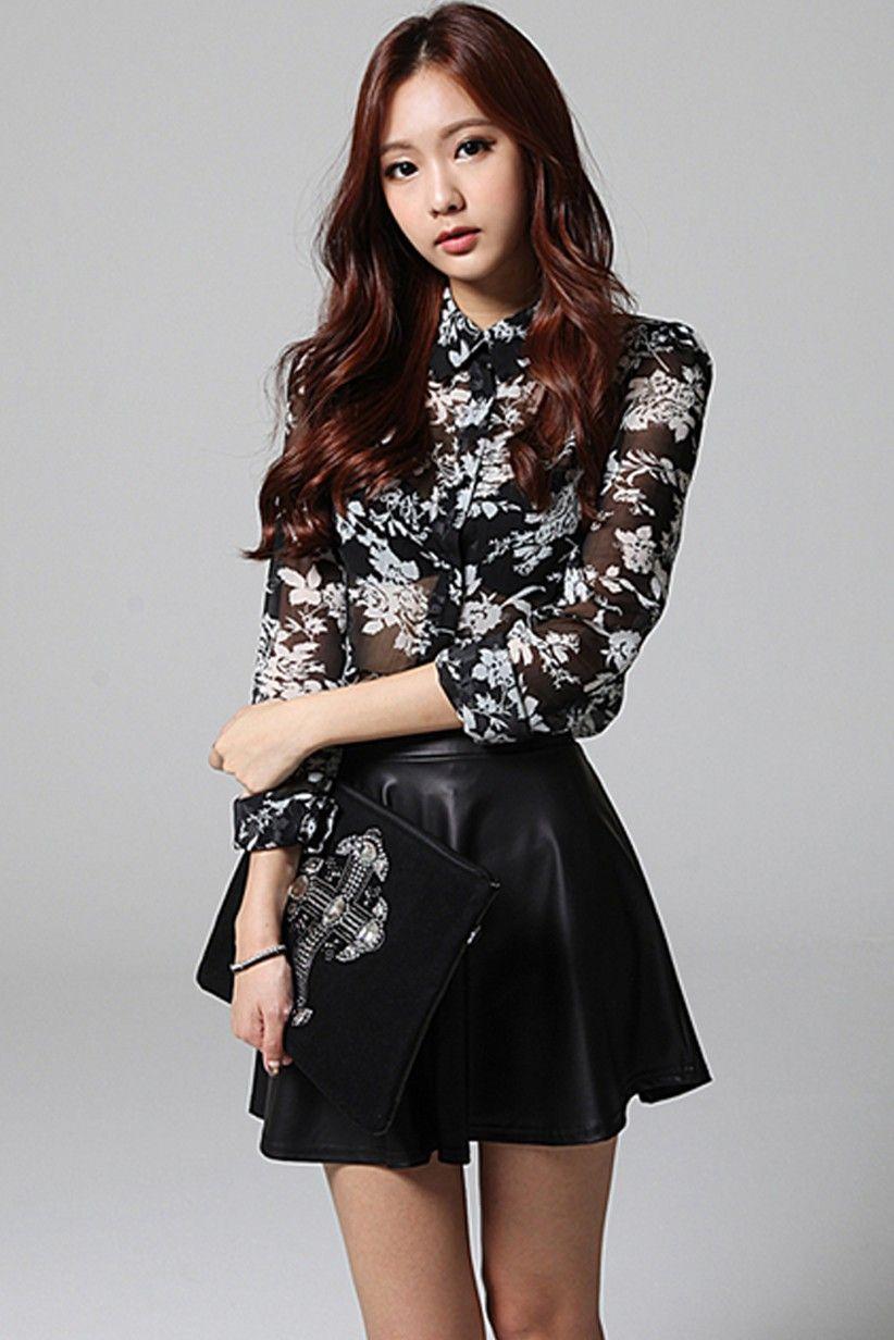 Rozkloszowana Spodniczka Latexowa Jak Skorzana 3397187937 Oficjalne Archiwum Allegro Flare Skirt Fashion Outfits Skirts