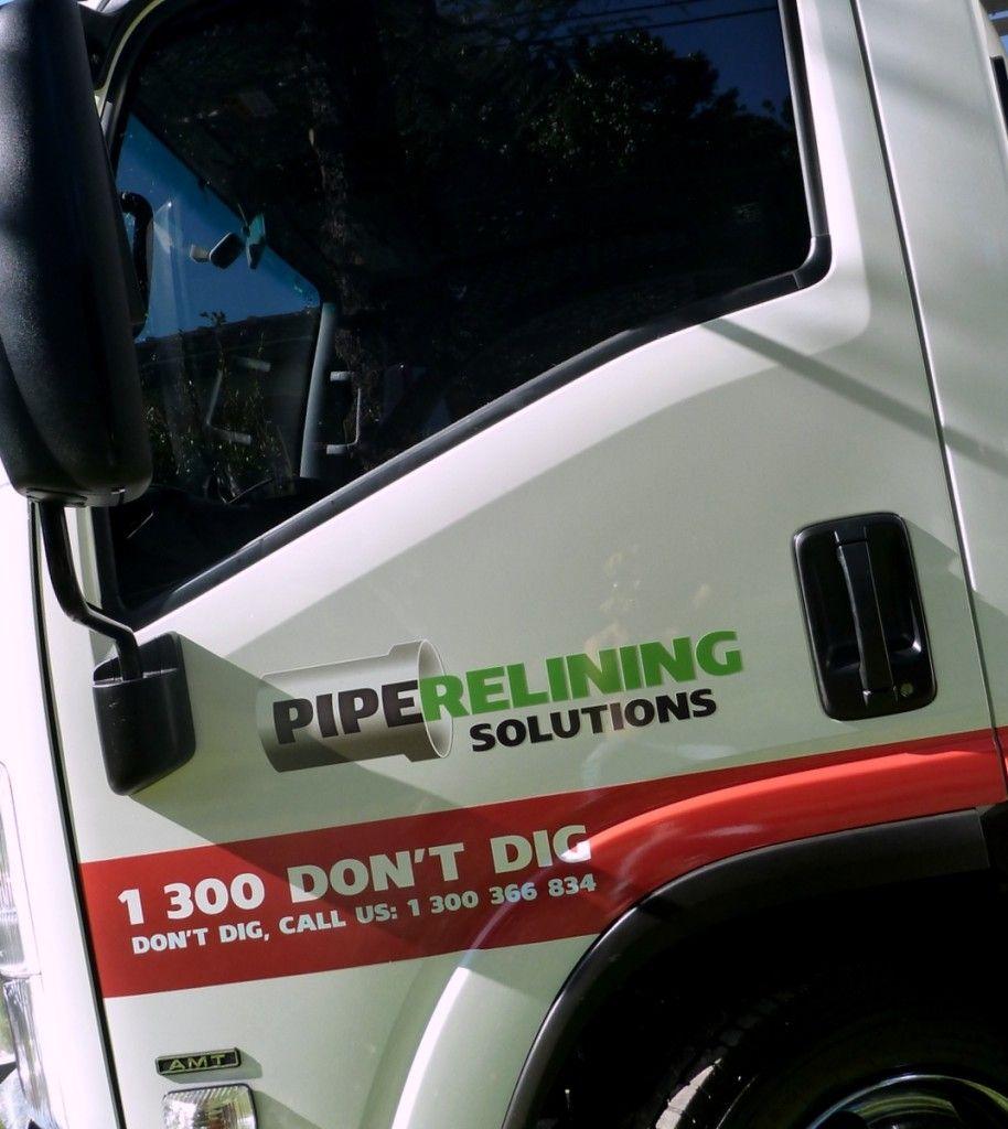 Isuzu truck wrap plumber wrap trade wrap truck vehicle wrap pipe relining