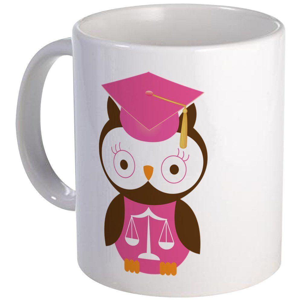 Cafepress graduate law student owl mug unique coffee mug
