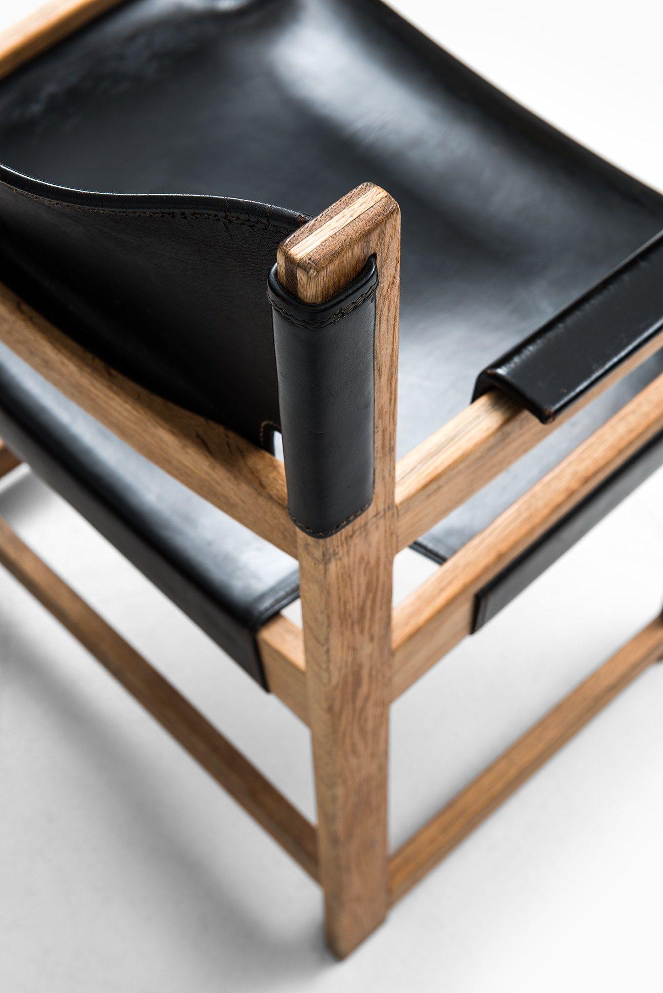 Sven Kai Larsen Armchairs Black Leather Chair Bamboo Chair Diy