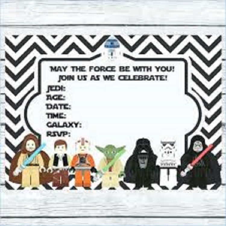 photo regarding Free Printable Star Wars Party Invitations named star wars lego birthday invites printable absolutely free Star