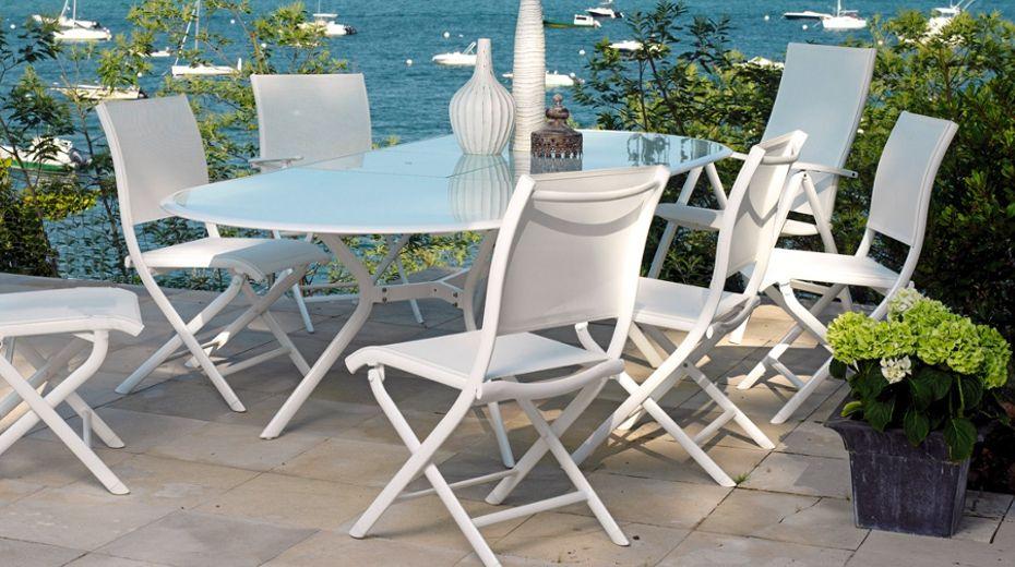 Table ovale Bilbao avec chaises Florence - Océo. | En ...