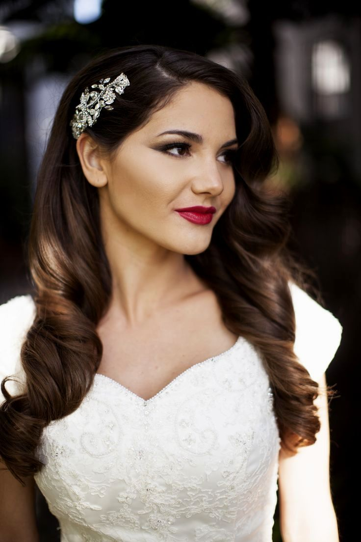 wedding hairstyles one side up | wedding | vintage wedding