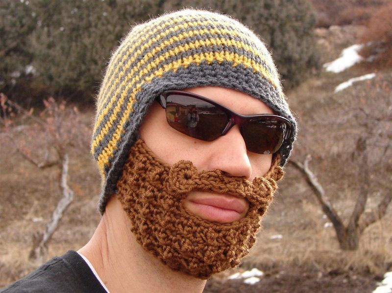 Links To Patterns For Beard And Moustache Hats Crochet Patterns