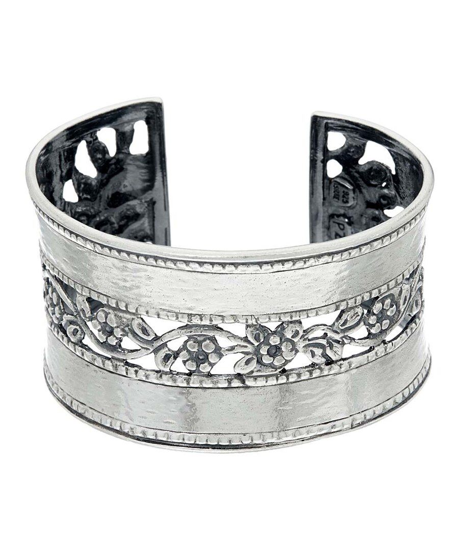 Look at this Sterling Silver Floral Lace Cuff on #zulily today!