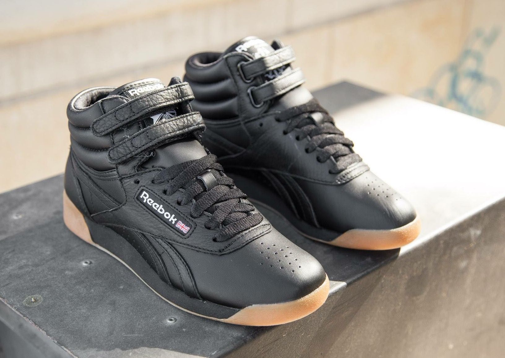 a95a6a135e Reebok Freestyle High: Black/Gum | Outfits I love | Reebok freestyle ...