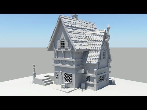 Autodesk Maya 2014 Tutorial Old House Modeling Part 1