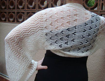 Lace Bolero/Shrug Knitting Pattern | Knitting Patterns for Shrugs and Boleros, many free patterns at http://intheloopknitting.com/free-shrug-bolero-knitting-patterns/