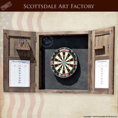Delicieux Custom Dart Board Cabinet Handmade By Scottsdale Art Factory