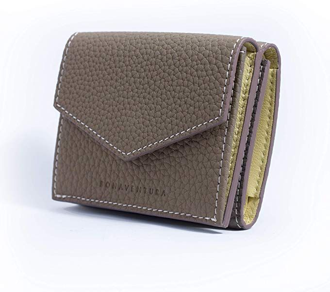 7de36b8bb131 Amazon   BONAVENTURA ボナベンチュラ トゴ スモールウォレット [エトープ×イエロー]   財布