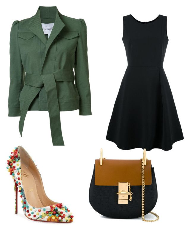 """""""Untitled #396"""" by outrarosa on Polyvore featuring Emporio Armani, 10 Crosby Derek Lam, Chloé and Christian Louboutin"""
