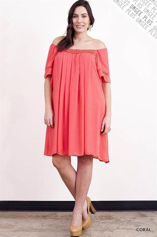 Coral Flutter Sleeve Dress - #blondellamydean #plussizefashion #plussize #curves
