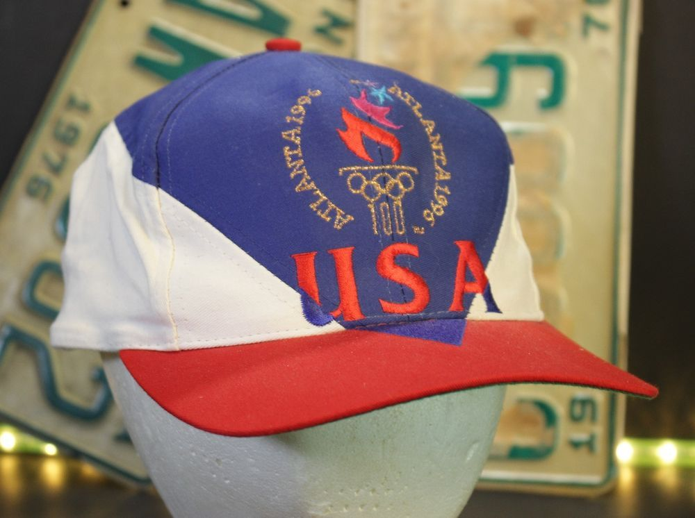 6be131c838acca Vintage Olympics Hat Snapback Cap USA Atlanta Olympics Summer Eastport 1996  #Eastport #BaseballCap