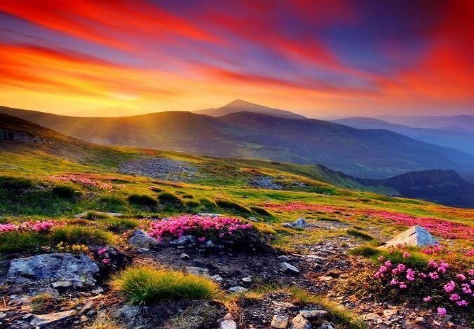 Mountain sunrise. Awesome!