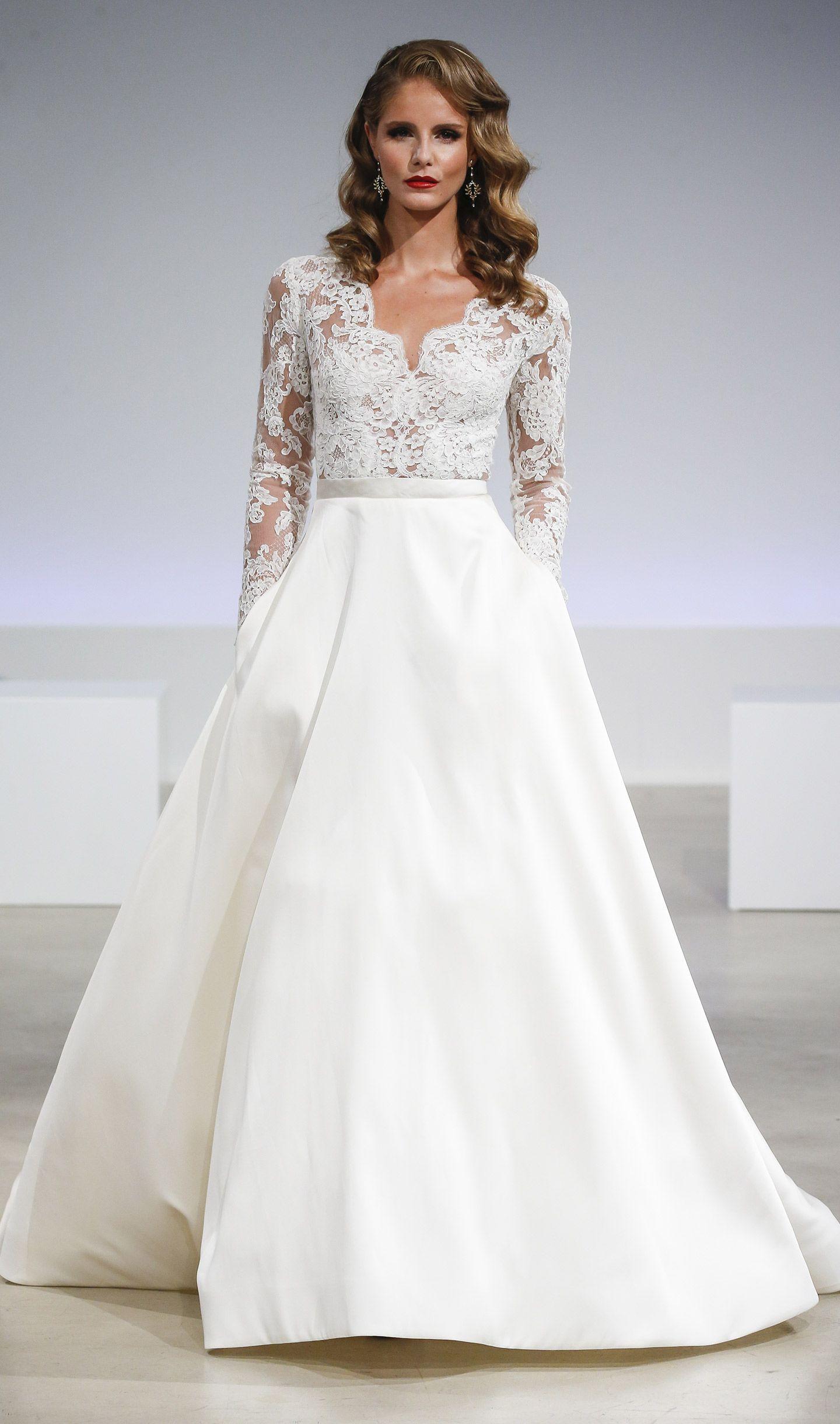 36+ Satin a line wedding dress with pockets info