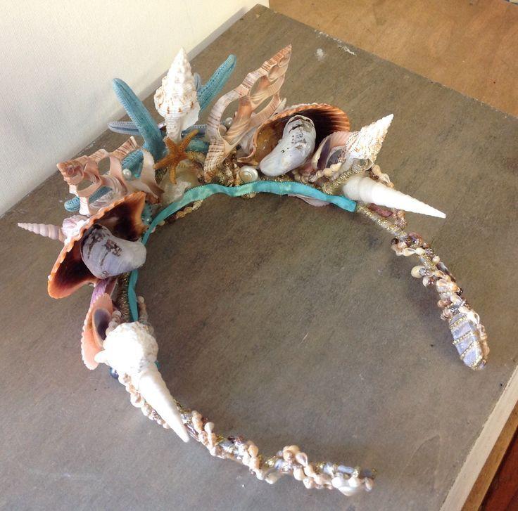 meerjungfraumuschelkrone  muschel krone basteln mit