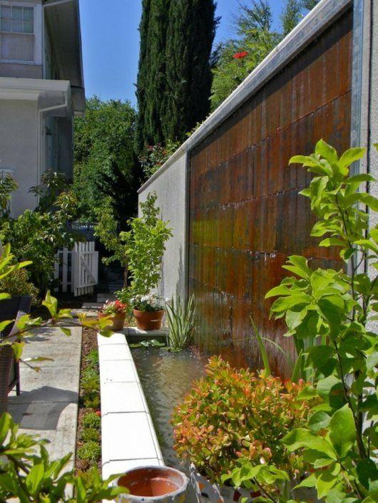 48 ides dun mur deau original pour votre jardin - Mur D Eau Exterieur