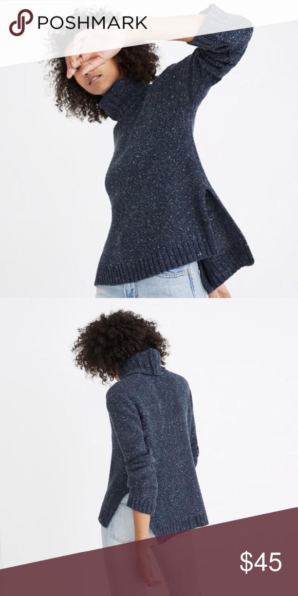 8aa5e82f68055 Madewell Flecked Turtleneck Sweater Size XXS Madewell Flecked Turtleneck  Sweater With High-Low Hem Women's