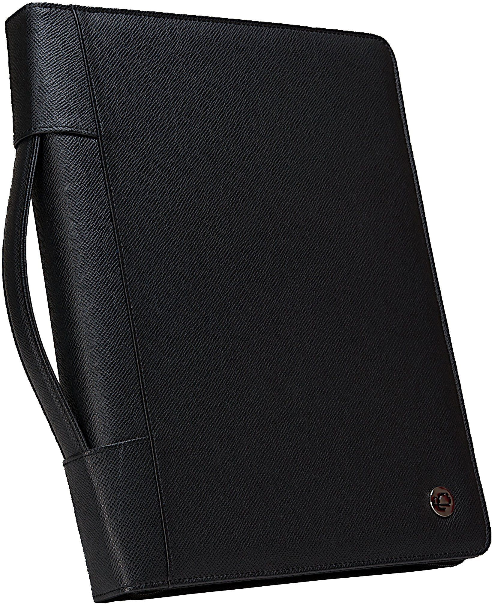 Case-it Executive Zippered Padfolio With Removable 3-Ring
