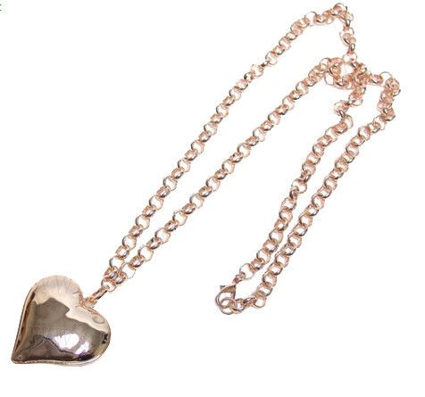 Rose Gold Heart Necklace Long – Lifestyle Home & Living