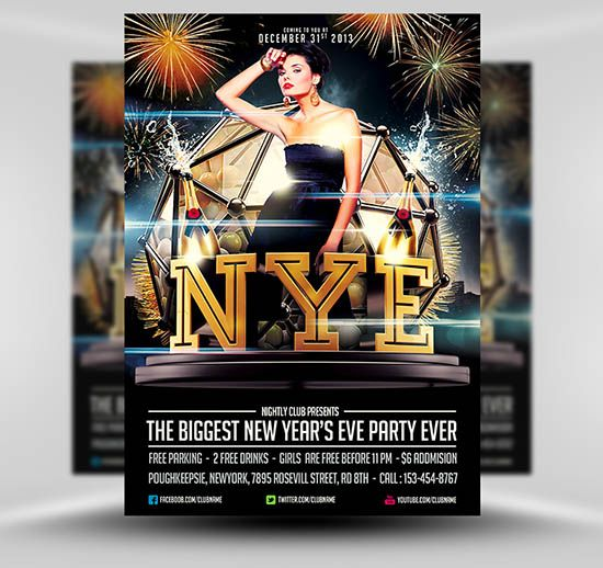 Free New yearu0027s Eve Flyer Template #Free #PSD #Photoshop #Flyer - free new years eve flyer template