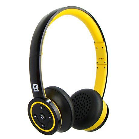 H-W955B YL - C3Tech Mais musica por mais tempo! O fone de ouvido estereo Bluetooth H-955B da C3 Tech, permite ouvir suas musicas preferidas e a realizacao de chamadas por microfone embutido. Alem de ser compativel a Smartphones e Tablets, permite a transmiss?o em ate 10 metros de distancia do dispositivo pareado. Sua bateria de longa duracao e um de seus diferenciais, oferecendo mais musica por mais tempo.