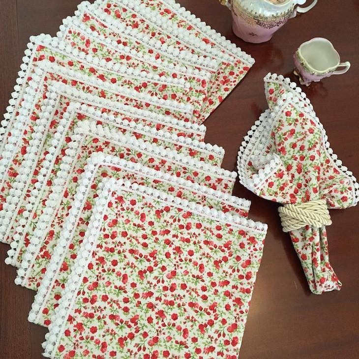 Armario Modulado Casal ~ Artesanato em tecido 75 ideias para colocar em prática Artesanato em tecido, Tecido e Guardanapo