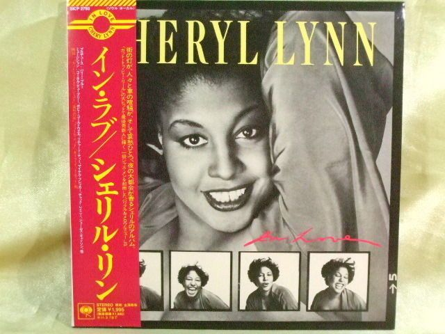 CD/Japan- CHERYL LYNN In Love +1 bonus trk w/OBI RARE MINI-LP remaster LIMITED #DiscoFunkSoul