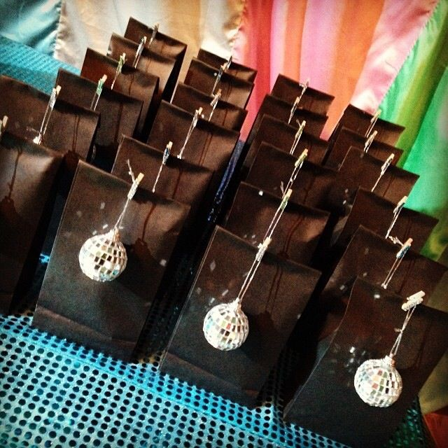 Disco party giveaways