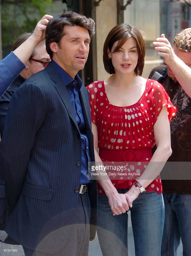 Production Assistants Prepare Patrick Dempsey And Michelle Monaghan
