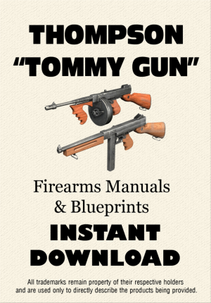 Thompson tommy gun manuals blueprints instant download this thompson tommy gun manuals blueprints instant download this downloadable zip file malvernweather Images
