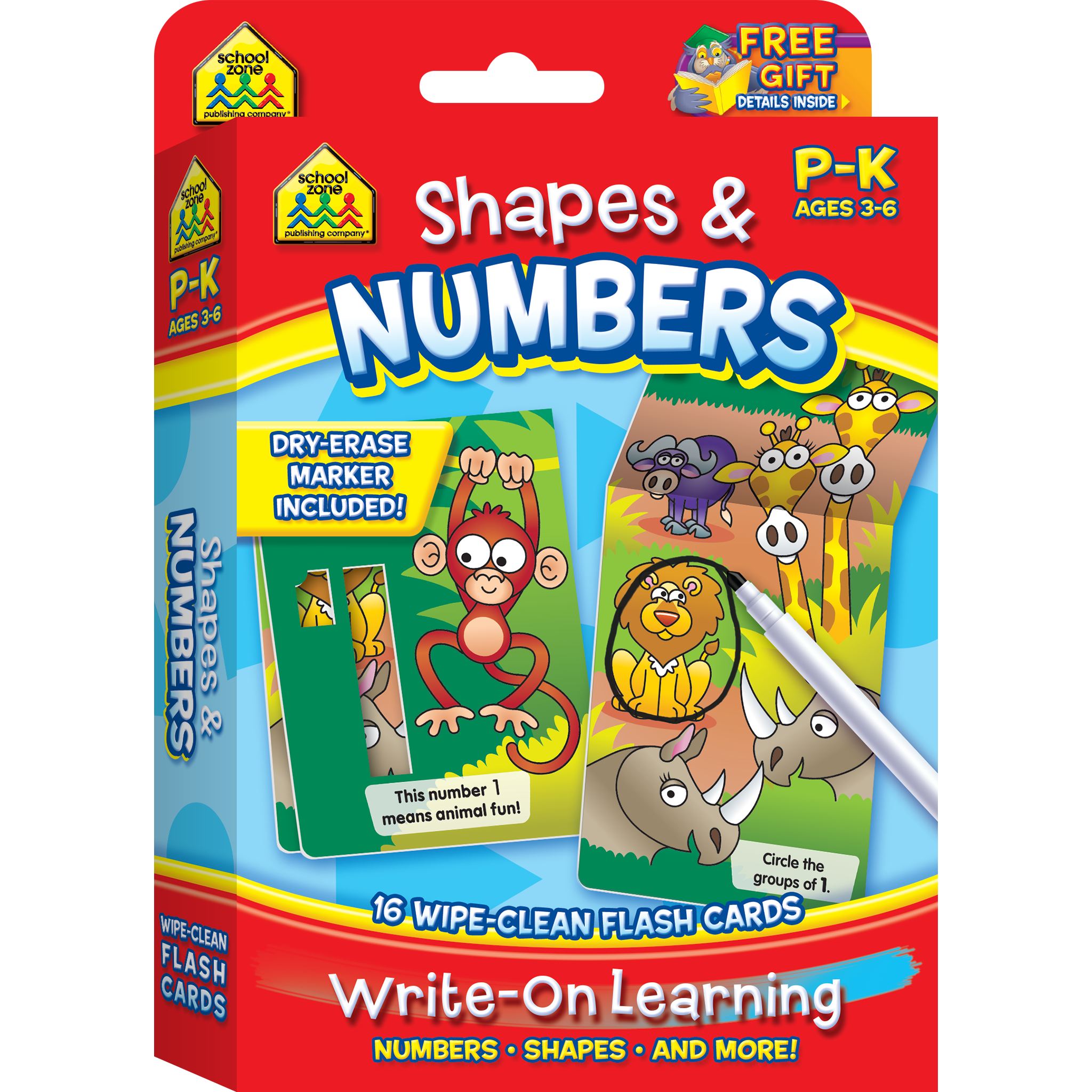 Shapes Amp Numbers Write On Learning Wipe Clean Flash Cards