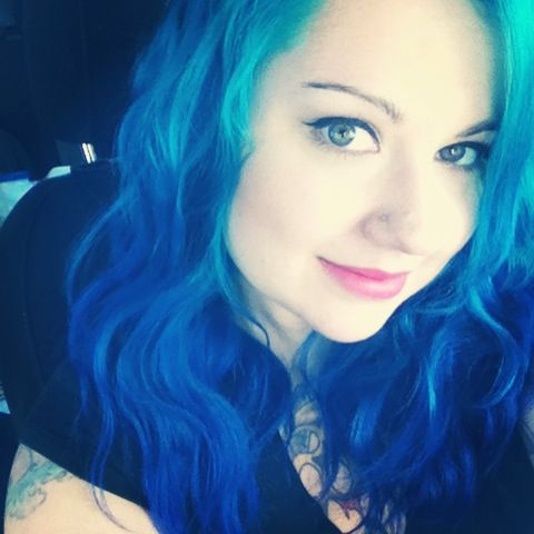 Blue Ombre With Manic Panic Atomic Turquoise Fading To Shocking