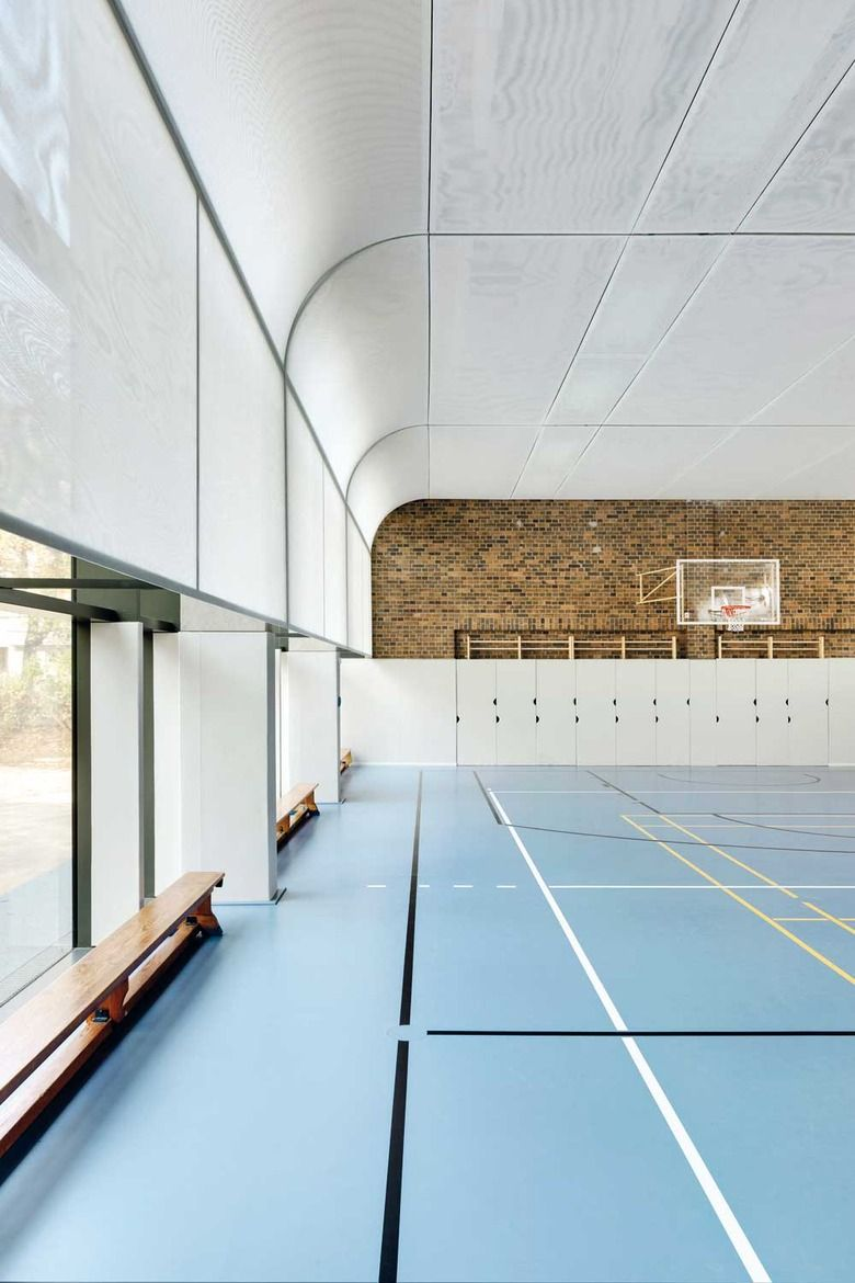 Sports hall in berlin detail inspiration colab for Innenraum design berlin
