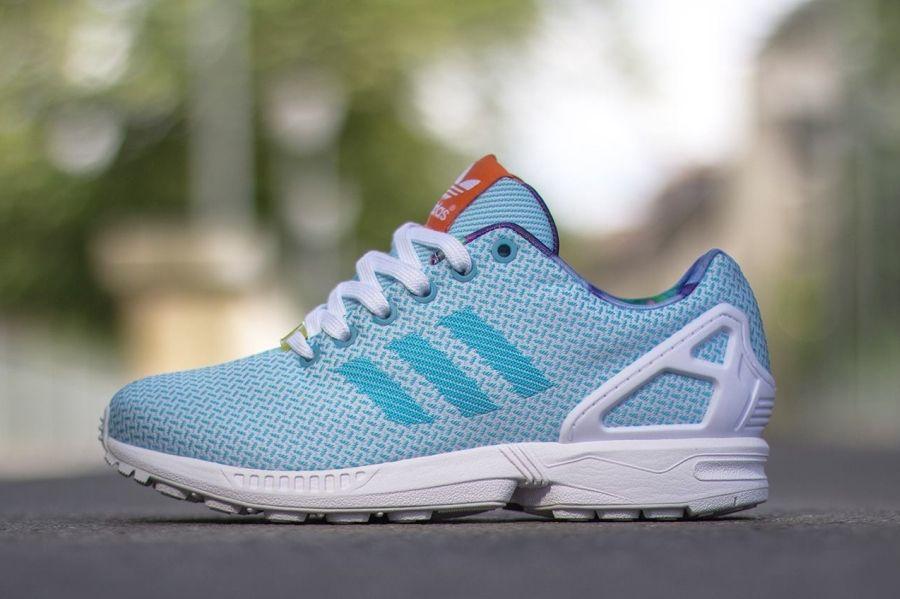 adidas zx flux weave bleu