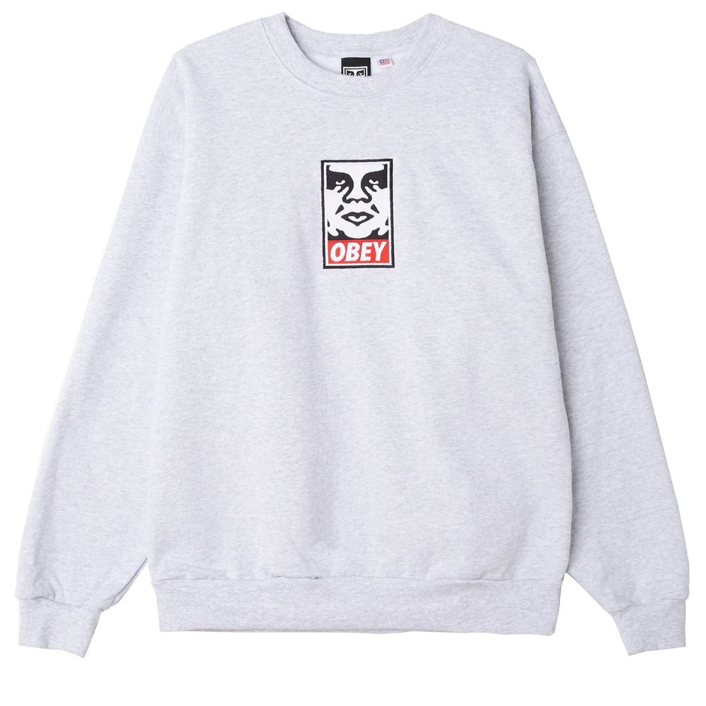 Icon Heavyweight Crewneck In 2021 Printed Sweatshirts Obey Clothing Men Obey Clothing [ 1000 x 1000 Pixel ]