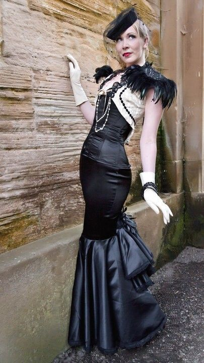 Neo Victorian Gothic Steampunk Feather Epaulettes BLACK NARCISSUS by Lovechild Boudoir. $80.00, via Etsy.